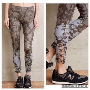 Anthropologie Pure+Good Floreale Leggings